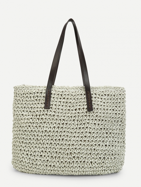 Плетена чанта Woven Bag With Double Handle