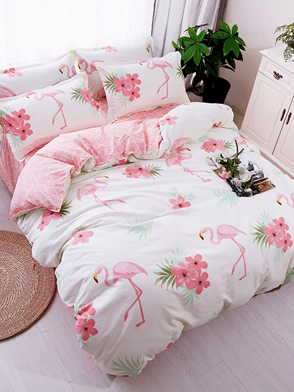 Спален комплект Flamingo Print Duvet Cover Set