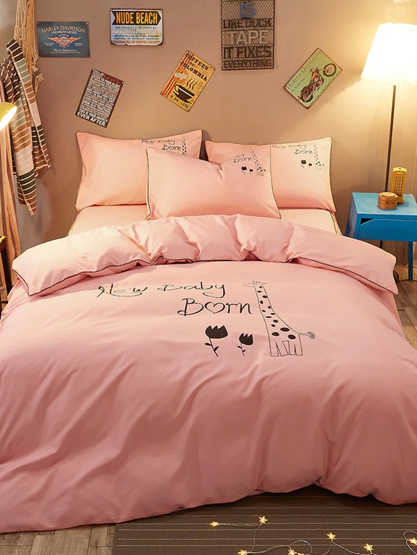 Спален комплект Giraffe Graphic Pillow and Duvet Cover Set