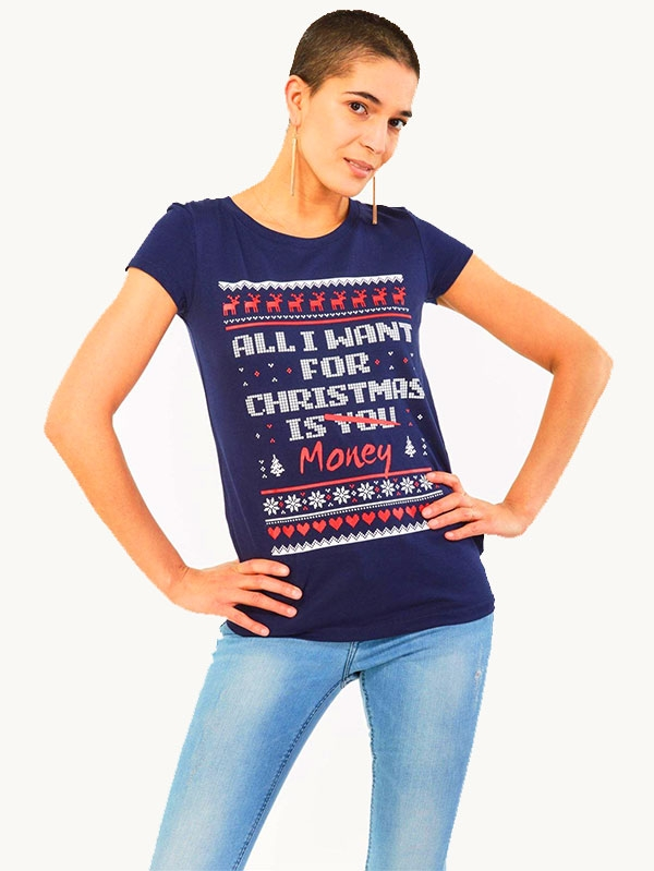 Тениска Scandinavian Patterned Holiday Tee