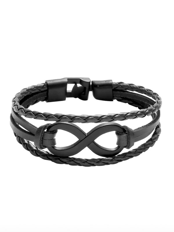 Винтидж гривна Black Layered Braided Bracelet